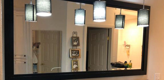 Custom Mirror with Beveled for Counter-Top Vanity